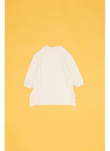 BG Baby Kız Bebek Beyaz Elbise Beyaz